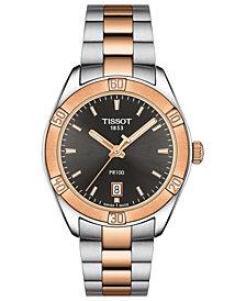 Tissot Men's Swiss T-Classic PR100 Two-Tone PVD Stainless Steel Bracelet Watch 36mm