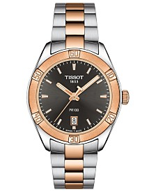 Tissot Men's Swiss T-Classic PR100 Two-Tone PVD Stainless Steel Bracelet Watch 36mm