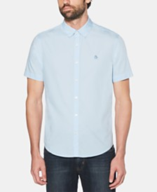 Original Penguin Men's Logo Graphic Poplin Shirt