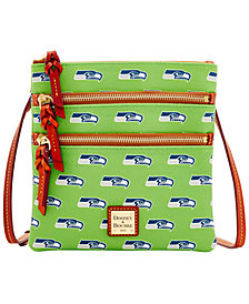 Dooney & Bourke Seattle Seahawks Triple Zip Crossbody Bag
