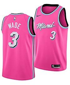 Dwyane Wade Miami Heat Earned Edition Swingman Jersey, Big Boys (8-20)