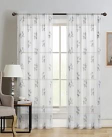 "Silk+Home Luxury Light Filtering Rod Pocket Single Curtain Panel 52""x95"""