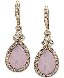 Givenchy Pavé Pear-Shape Drop Earrings