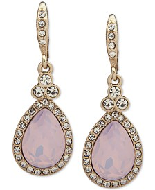 Givenchy Pavé Pear-Shape Drop Earrings