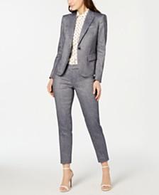 Anne Klein Twill One-Button Jacket & Pants