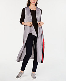 Steve Madden Varsity Stripe Cast Away Duster