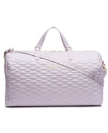 DKNY Quilted Barrel Duffle Large