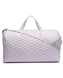 DKNY Allure Quilted Barrel Large Duffle