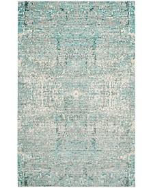 Mystique Teal and Multi 4' x 6' Area Rug