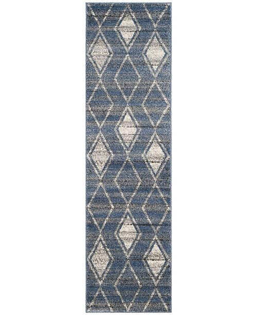 "Safavieh Tunisia Light Blue and Cream 2'3"" x 8' Runner Area Rug"