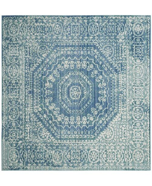 "Safavieh Valencia Blue and Multi 6'7"" x 6'7"" Square Area Rug"