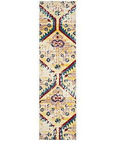 """Watercolor Light Yellow and Blue 2'2"""" x 8' Runner Area Rug"""