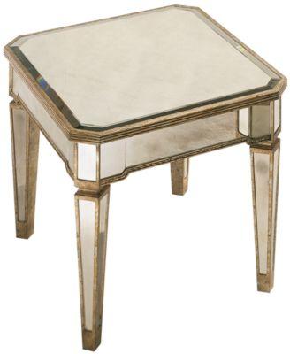 CLOSEOUT Marais Table Mirrored End Table Furniture Macys