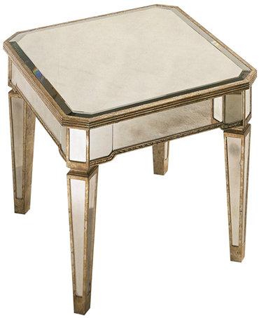 Marais Table Mirrored End Table Furniture Macy 39 S