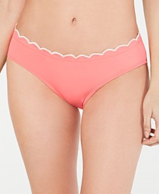 Contrast Scalloped Hipster Bikini Bottoms