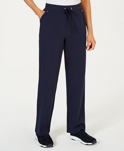 Karen Scott Petite Pull-On French Terry Pants, Created for Macy's