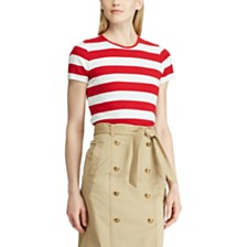 Lauren Ralph Lauren Stretch Striped Cotton T-Shirt