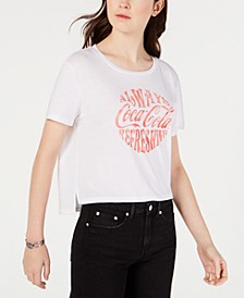 Juniors' Coca-Cola Cropped Graphic T-Shirt