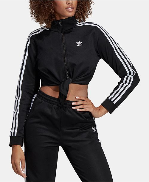 adidas Knotted Cropped Track Jacket