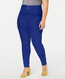 HUE® Plus Size Original Smooth Denim Leggings, Created for Macy's