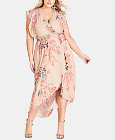 City Chic Trendy Plus Size High-Low Maxi Dress