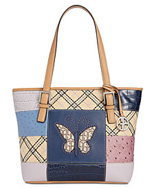 Giani Bernini Butterfly Patchwork Tote, Created for Macy's