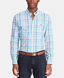 Polo Ralph Lauren Men's Classic Fit Plaid Cotton Poplin Shirt