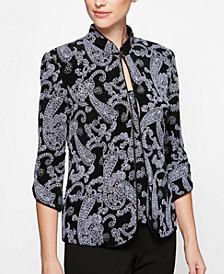 Glitter-Print Jacket & Top