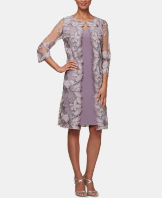 Dillard's Dresses Tea Length Gold Lace