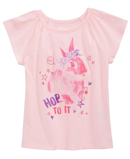 Epic Threads Toddler Girls Hop To It T-Shirt, Created for Macy's