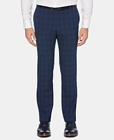 Men's Portfolio Slim-Fit Performance Stretch Plaid Non-Iron Dress Pants