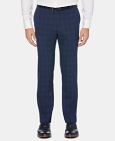 Perry Ellis Men's Portfolio Slim-Fit Performance Stretch Plaid Non-Iron Dress Pants