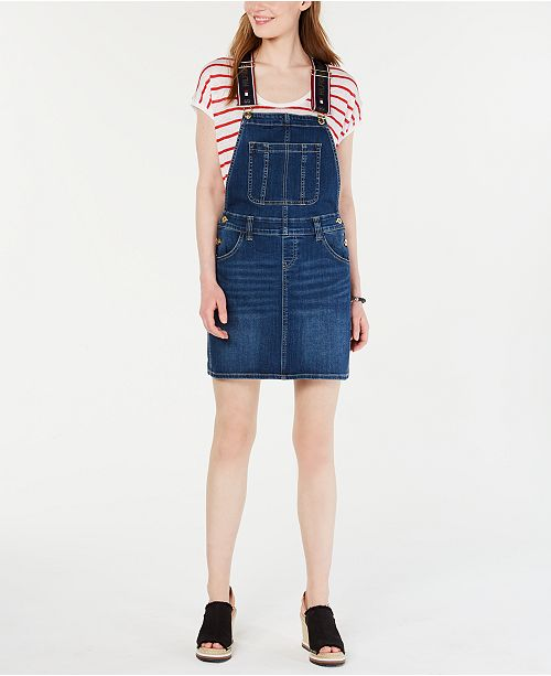 Tommy Hilfiger Logo Overall-Dress, Created for Macy's