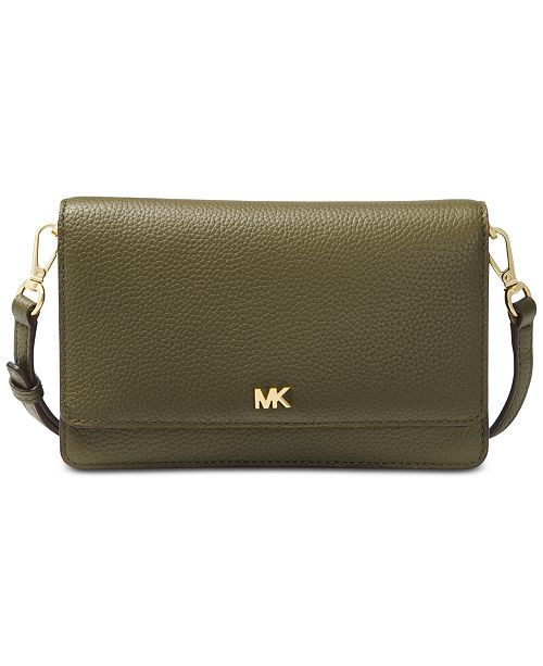 e32fb9bb9aa3 Michael Kors Pebble Leather Phone Crossbody Wallet   Reviews ...