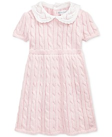 Polo Ralph Lauren Baby Girls Cable-Knit Cotton Dress