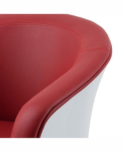 Sensational Corliving Modern Bonded Leather Swivel Tub Chair Ibusinesslaw Wood Chair Design Ideas Ibusinesslaworg