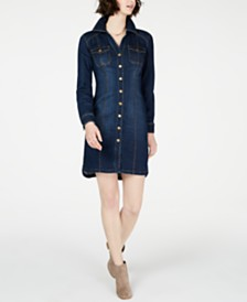 I.N.C. Denim Shirtdress, Created for Macy's