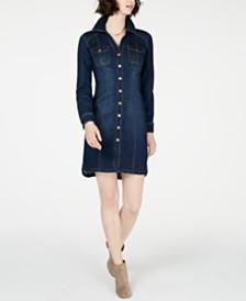 I.N.C. Petite Denim Shirtdress, Created for Macy's