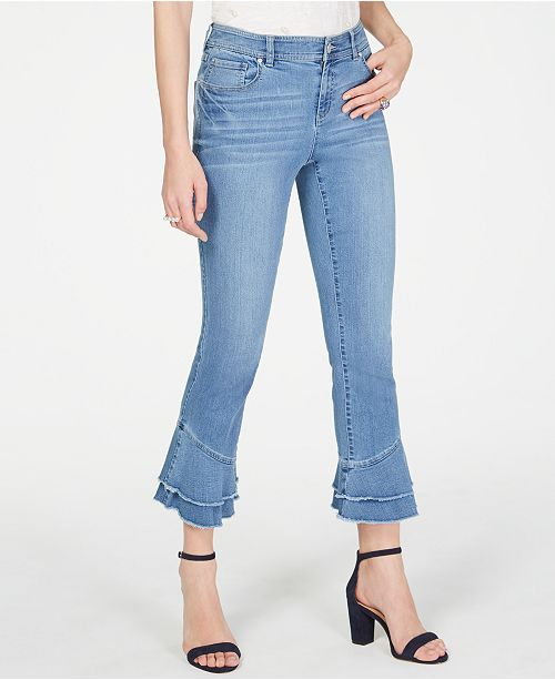 INC International Concepts INC Double-Ruffle-Hem Ankle Jeans, Created for Macy's