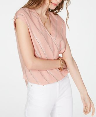 Size 14 to 20 NEXT PINK Sleeveless Metallic Layered Top