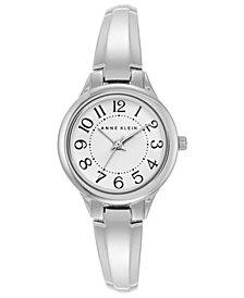 Anne Klein Women's Silver-Tone Bangle Bracelet Watch 29mm