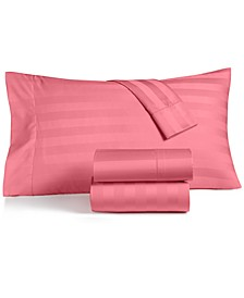CLOSEOUT! Stripe Sheet Sets, 550 Thread Count 100% Supima Cotton, Created for Macy's