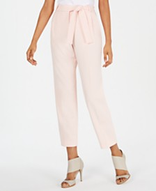Calvin Klein Petite Belted Cropped Pants