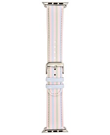 I.N.C. Pastel Multi-Stripe Faux-Leather Apple Watch® Strap, Created for Macy's