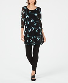 Alfani Printed Tunic Collection, Created for Macy's