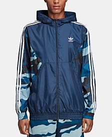 adidas Men's Originals Camo Colorblocked Windbreaker