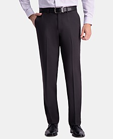 Men's Premium Comfort Classic-Fit 4-Way Stretch Wrinkle-Free Flat-Front Dress Pants