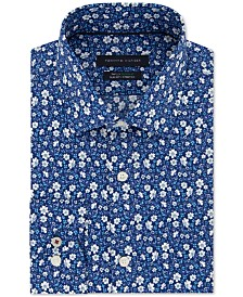 Tommy Hilfiger Men's Slim-Fit THFlex Supima® Stretch Non-Iron Floral Dress Shirt