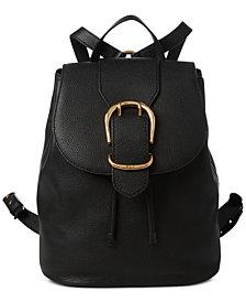Lauren Ralph Lauren Cornwall Pebble Leather Backpack