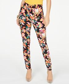 Thalia Sodi Floral Pull-On Leggings, Created for Macy's